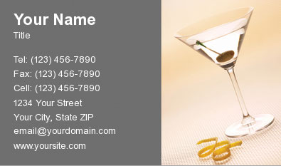 Bartender Business Card 12